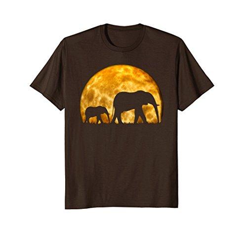 Mens Elephant T Shirt Cute Baby Elephant Wild Africa Safari Fun Large Brown by Elephant T-Shirt African Bush Wild Elephant Tee