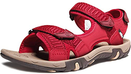 ATIKA Women's Maya Trail Outdoor Water Shoes Sport Sandals, Havana(w213) - Wine, 8