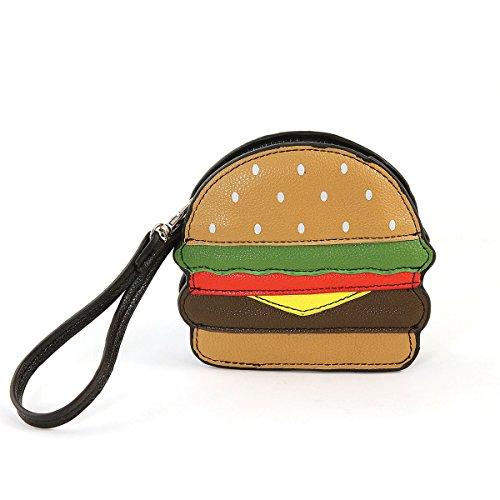 (Sleepyville Critters Hamburger Zippered Coin Purse Wristlet)