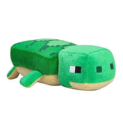 "Minecraft Happy Explorer Sea Turtle Plush Stuffed Toy (Green, 7"" Long)"