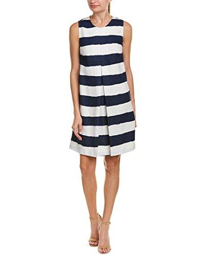 J.Mclaughlin Womens Linen Shift Dress, L, Blue