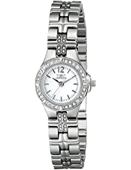 Invicta Womens 0126 II Collection Crystal-Accented Stainless Steel Watch