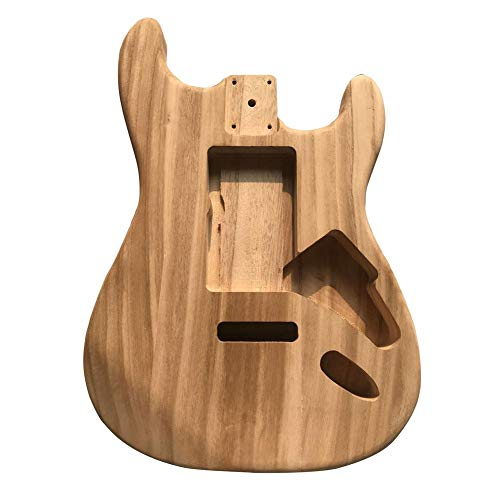 Telisii DIY Electric Polished Lacquered Maple Wood Barrel Electric Guitar Body ST Fanta Stratcaster