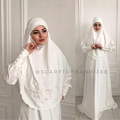 Amazon.com Muslim wedding dress with khimar, bridal hijab