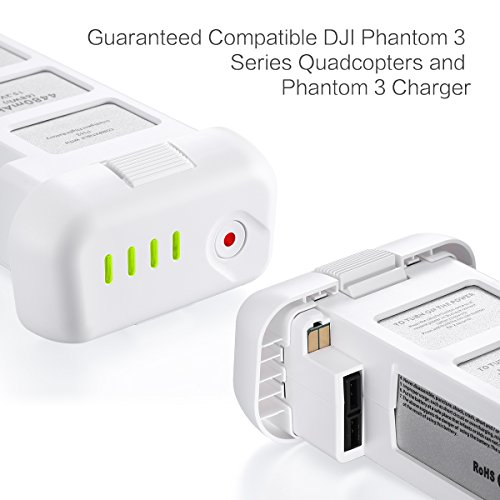 Powerextra 15.2V 4480mAh LiPo Intelligent Battery Replacement Battery for DJI Phantom 3 SE, Professional, Phantom 3 Advanced, Phantom 3 Standard, 4K Drones - Upgraded