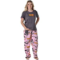 Cat Nap Pink Women's Pajama Set By LazyOne