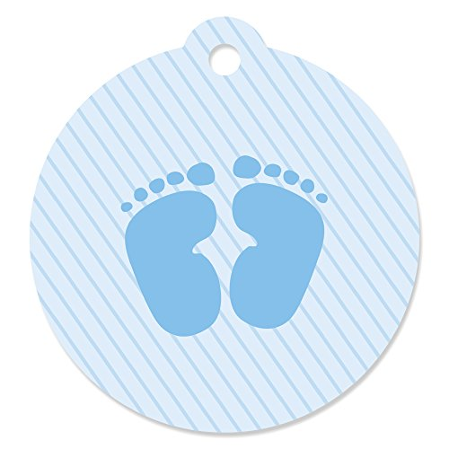 Baby Feet Blue - Baby Shower Favor Gift Tags (Set of 20) ()