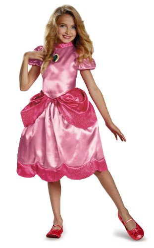 Disguise Nintendo Super Mario Brothers Princess Peach Classic Girls Costume, Large/10-12 -