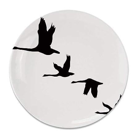 YOLIYANA - Plato Decorativo Redondo de cerámica con diseño de ...