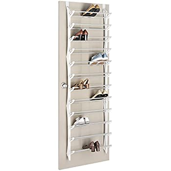Whitmor 36-Pair OTD Shoe Rack White  sc 1 st  Amazon.com & Amazon.com: 10 Over Door Hooks Shoe Organizer Hooks Pocket Hanging ...