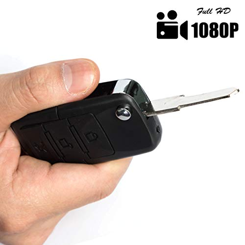 Hidden Spy Camera Car Key - Keychain Motion Detection Nanny Cam - Surveillance Recorder Camera Equipment - HD Mini Camcorder Security Monitoring Systems
