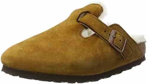 64faa1d3ad Birkenstock Boston Fur 1001141 Suede Unisex Sandals - Mink - N - 37
