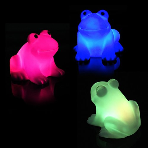 - Holrea 1Pc Magic LED Cartoon Frog Night Light Lamp Color Changing Night Lamp Battery Operated Decorative Night Sleeping Desk Lamp Light Baby Desk Lamp Nursery Decor Random