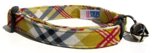 Breakaway Cat Collar in Yellow Plaid (Handmade in the U.S.A.), My Pet Supplies