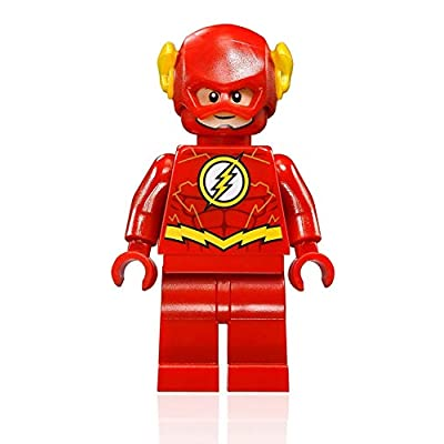 LEGO DC Comics Super Heroes Justice League Minifigure - Flash (with Power Blast) 76098: Toys & Games