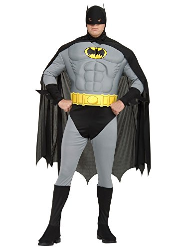 [Muscle Chest Classic Batman Costume - Plus Size - Chest Size 46-50] (Classic Batman Costumes)