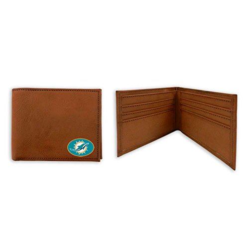 GameWear NFL Miami Dolphins Classic Football Wallet, One Size, Brown