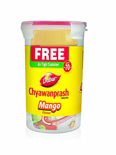 Dabur Chyawanprash Awaleha – Mango, 1kg Jar with Free Air Tight Container worth 70/-