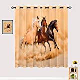ANHOPE Horse Blackout Curtains, Thermal Room