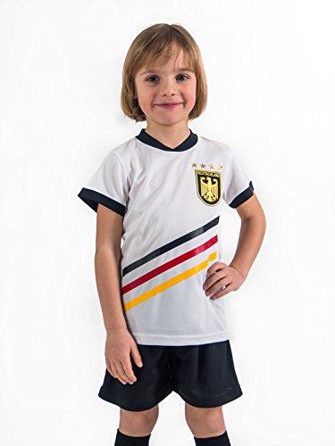 Fußball Trikotset Trikot Kinder 4 Sterne Deutschland WUNSCHNAME Nummer Geschenk Größe 98-170 T-Shirt Weltmeister 2014 Fanartikel EM 2016 (134)