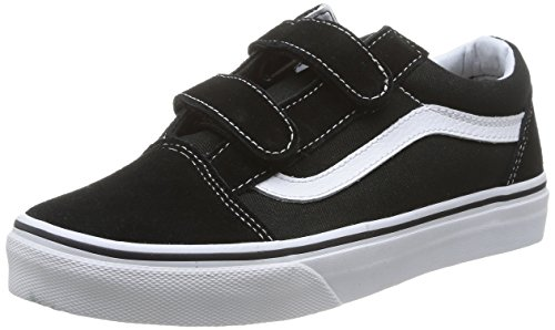 Vans Kids Old Skool V Black/True White Skate Shoe 13 Kids US