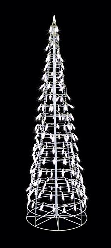 Led Cone Tree White 7'