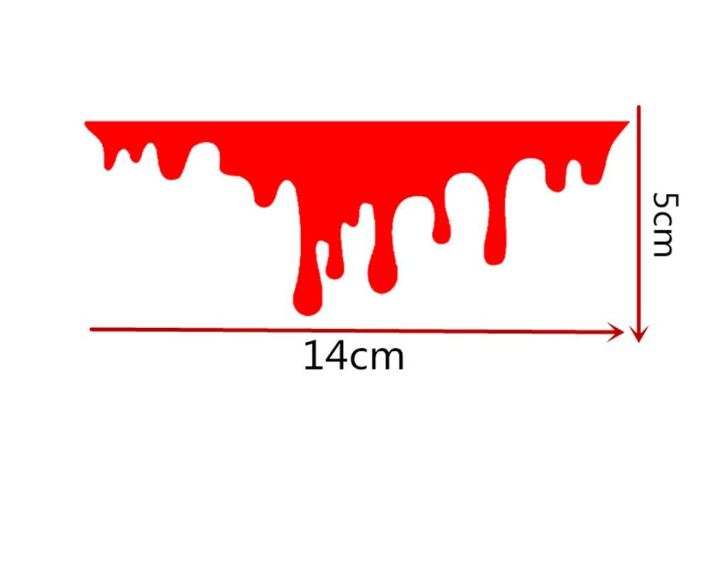 Car Home Glass Notebook Personality Sticker Halloween Horror Blood Drop for Kia Soul Forte5 Cadenza Telluride Pro Venga Color Name: tz-Black Decals & Bumper Stickers