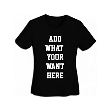 54d3ccf49 Personalized Womens T-Shirt Ultra Soft Pinted with Your Picture Text Custom  Cotton Tees Multicolor&Size