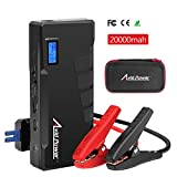 Car Jump Starter 900A Peak 20000mAh (Up to 7.0L Gas or 5.5L Diesel), 12V Auto Battery Booster, Portable Power Pack with LCD Display, QC 3.0 and LED Light, Avid Power