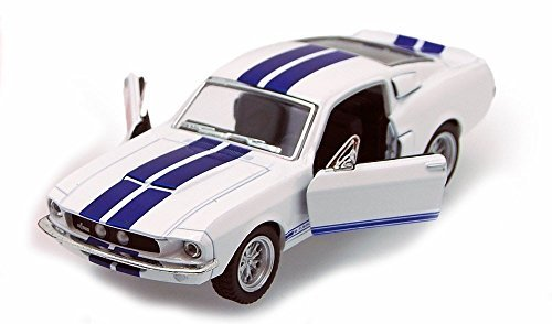 1967 Shelby GT500, White - Kinsmart 5372D - 1/38 scale Diecast Model Toy Car, but NO BOX ()