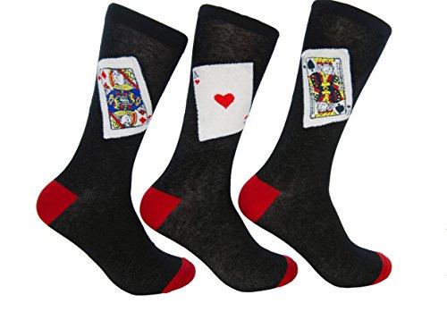 Culture Sock Women's Blackjack Socks (3 individual mismatched ()