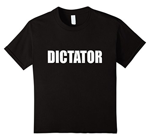 Dictator Costume Girl (Kids Dictator T Shirt Halloween Costume Funny Cute DistressedBoat 10 Black)