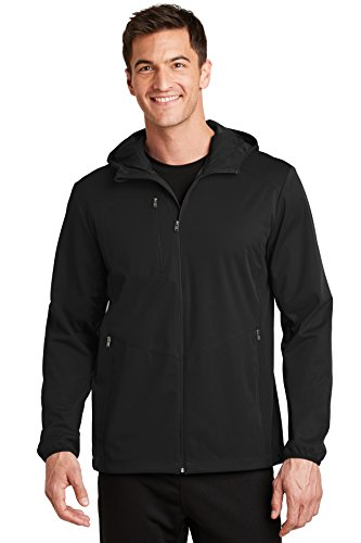 Port Authority Active Hooded Soft Shell Jacket. J719 Deep Black