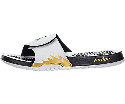 d575d3326 Galleon - Nike Mens Jordan Hydro V Retro White Black Synthetic Sandals 8 US