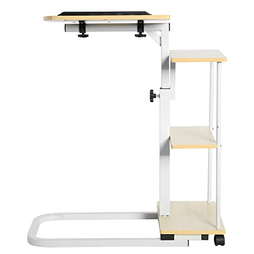 New Overbed Rolling Table With Tilting Top for Laptop Food Tray Hospital Desk Multi Function (Stock US) by Neolifu (Image #7)