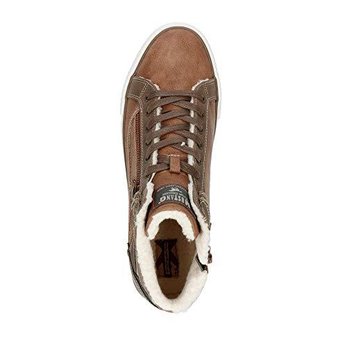Top Herren Cognac Sneaker Hohe Mustang High ZB0qwqp