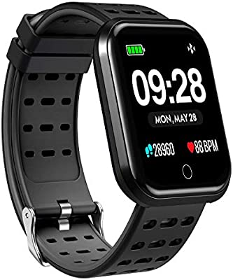 Smart Watch, Waterproof Smart Tracker Wearable Bluetooth Smart Watch Running GPS with Fitness Heart Rate Monitor, HD Screen Wristband Pedometer/Heart ...