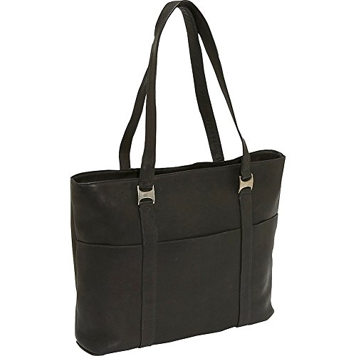 Piel Computer Business Tote (Black) by Piel Leather