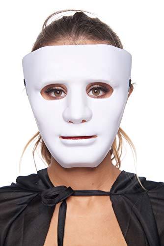 Plastic Party Halloween Masks Jabbawockeez Guy Fawkes Carnival Mardi Gras Ghost Trot Rave Hip-Hop Mask (1-White)