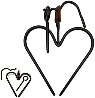 product image for Saving Shepherd Amish Heart Dinner Bell Set - Hand Forged Heavy Duty Wrought Iron Chime Hand Crafted & Made in The USA
