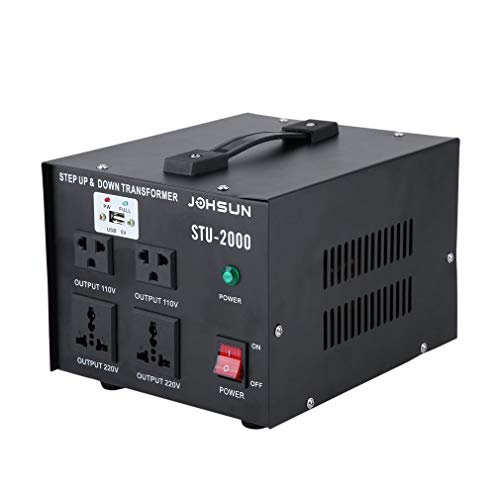 Chennly 2000-Watt Voltage Converter Transformer - Auto Step Up & Step Down Voltage Transformer Converter with Fuse & Over Current Protection, US FCC Certification ()