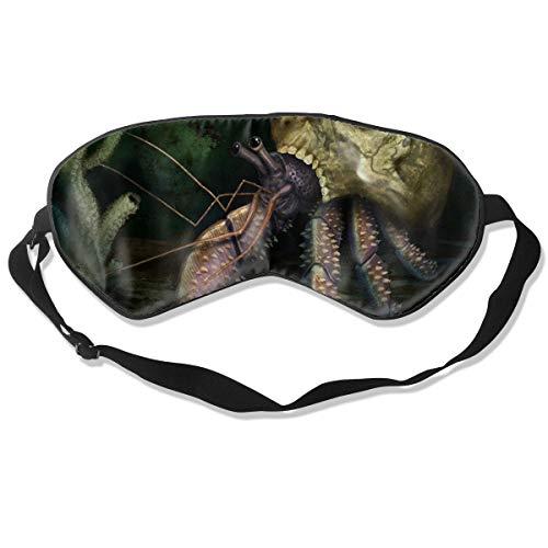 ZHENHUN Skull Hermit Crab Silk Sleep Eye Mask Shade Best Sleeping Eye Cover for Travel Nap Full Night¡¯s Sleep Super Soft with Adjustable Strap -