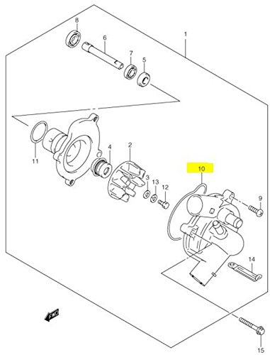 Amazon Com Suzuki Oem Replacement Water Pump Inner O Ring Gsxr Busa