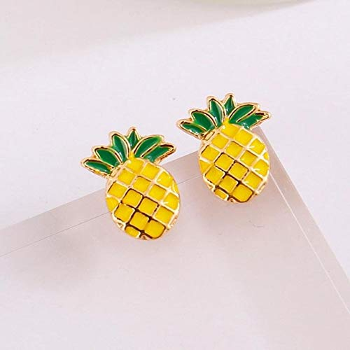 Simple Pineapple Earrings Fruit Lady Earrings Wholesale Sales Aretes Online Shopping India Punk New Fashion Earrings - (Metal Color: Photo Color) (Sale Online Shopping India)