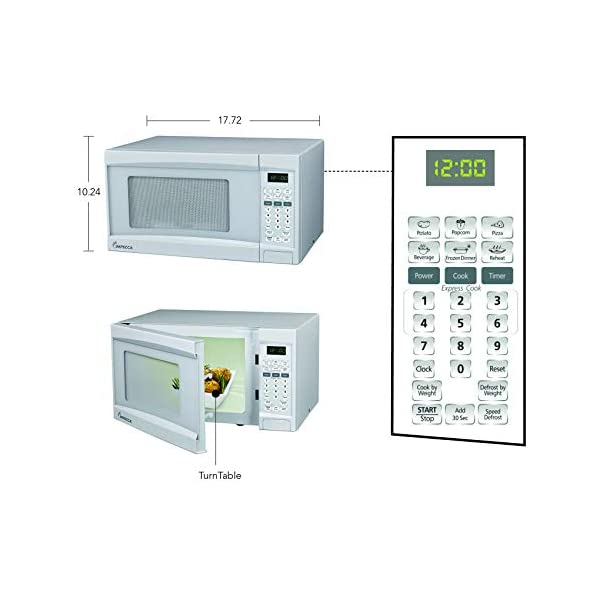 Impecca Microwave Oven with 10 Power Levels and Digital Display, 0.7 Cubic Feet, White 5