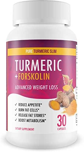 Pure Turmeric Slim - Turmeric + Forskolin - Keto Diet Support - Burn Fat Not Carbs!