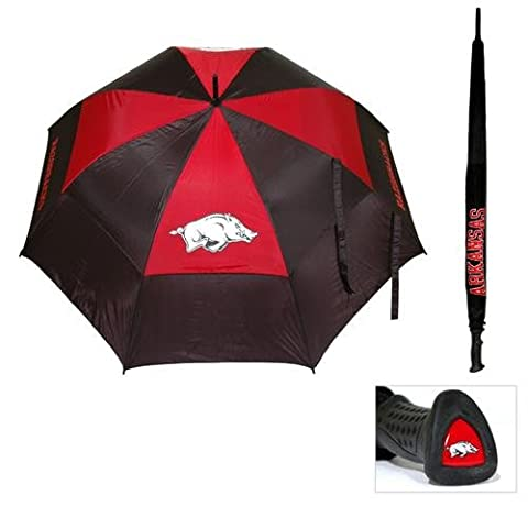 Team Golf Arkansas Razorbacks NCAA 62 inch Double Canopy Umbrella TGO-20469 - Team Golf Golf Umbrella