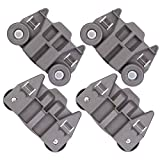[UPGRADED] W10195417 New Replacement Part for Lower Dishwasher Wheel- Exact Fit For Whirlpool Kenmore Dishwasher - Enhanced Durability with Steel Screws - PACK OF 4
