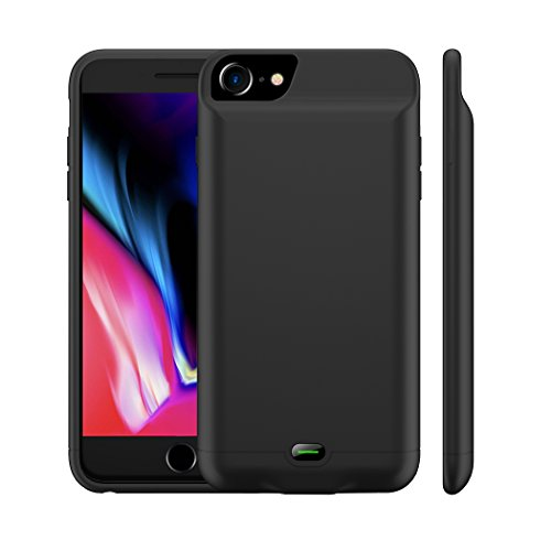 iPhone 8/7 Battery Case, MAXBEAR 3200mAh Ultra Slim Rechargeable Extended Battery Pack Apple iPhone 6/6S Charging Case Supports Lightning Headphones iPhone 7/8 Portable Power Bank-Black by MAXBEAR