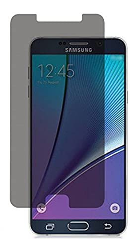Galaxy Note 5 PRIVACY Screen Protector Glass (Full Screen Coverage), Bye-Bye-Bubble Samsung Galaxy Note 5 Anti-Spy Tempered Glass Screen Protector (Note 5, (Privacy Screen For Not)